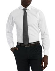 Bedford Textured Dobby White Business Shirt