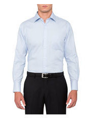 EURO Self Stripe Herringbone Business Shirt