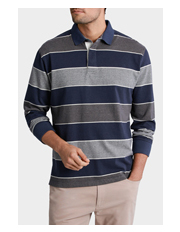 Back Bay - Rugby Stripe Sweat Top