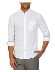 Nautica - Long Sleeve Solid Eoe Shirt