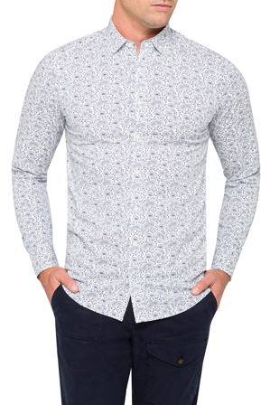 Tommy Hilfiger - Berney Paisley Long Sleeve Shirt