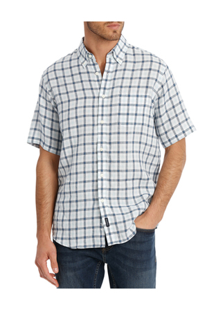 Gazman - Pure Linen Multi Check Shirt