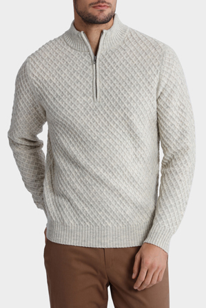 Reserve - Quarter Zip Diamond Cable Knit