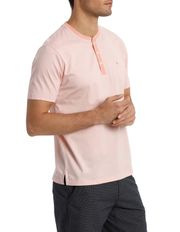 Trent Nathan - Short Sleeve Henley Neck Mercerised Tee