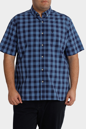 Jack Stone 3XL-7XL - Short Sleeve Check Shirt