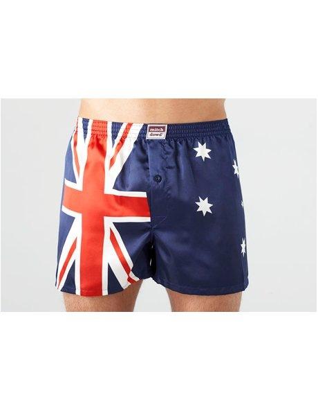 Mitch Dowd Mens Satin Boxer - Australian Flag. .95. + 39 shopping credits ...