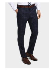 Wolf Kanat - Large Check Suit Trouser