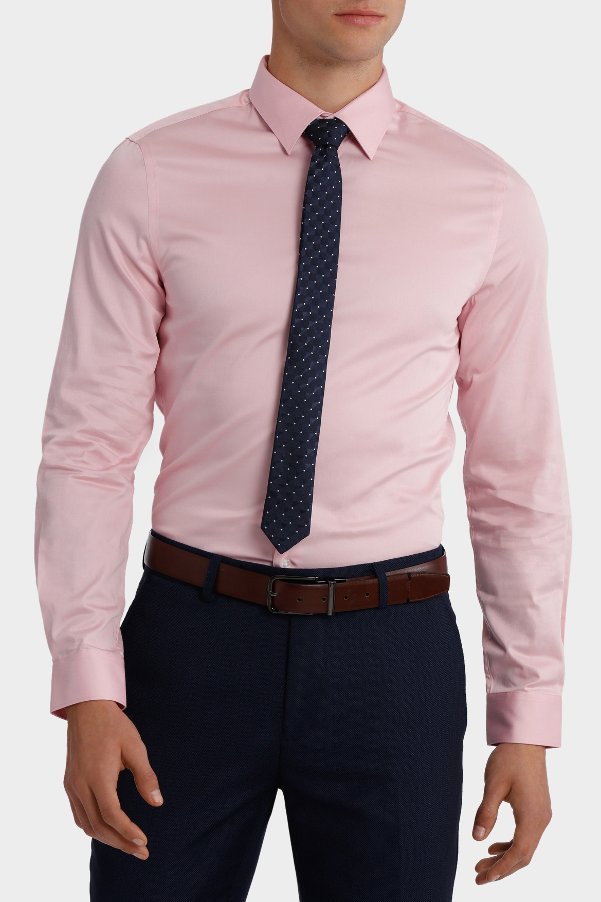 NEW Blaq Slim Ultra Slim Stretch Business Shirt Pink | eBay