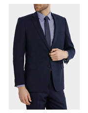 Trent Nathan - Trent Nathan Tailored Midnight Blue Suit Jacket