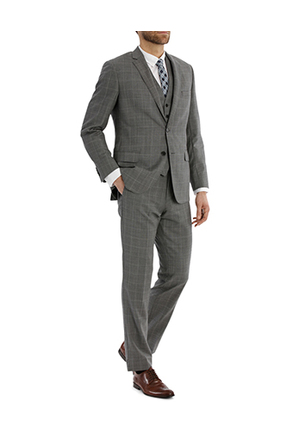 Trent Nathan - TRENT NATHAN TN-152-21 WINDOWPANE CHECK SUIT JACKET