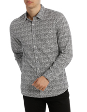 Blaq - HVAR printed slim long sleeve shirt