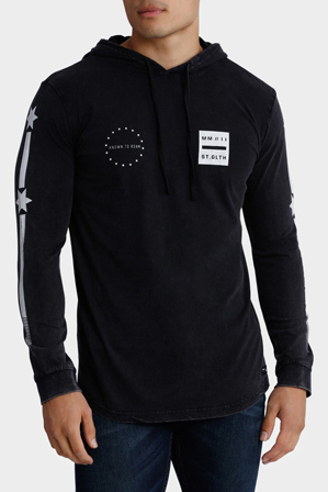 St Goliath - Revere Hooded Long Sleeve Tee