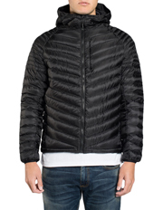 Micro Quilt Down Hooded Jacket
