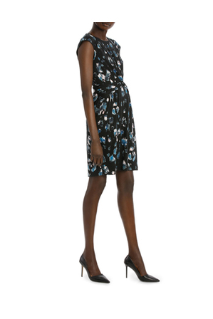 Basque - Jersey Knot Waist Extended Slv Dress