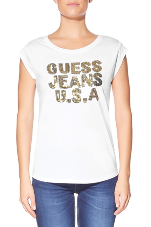 Guess - Short Sleeve Logo Sequin Tee