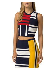 Tommy Hilfiger - Gigi Hadid Sweater Patchwork Top