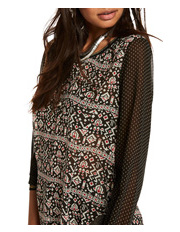 Scotch & Soda - Sheer Printed Long Sleeve Top