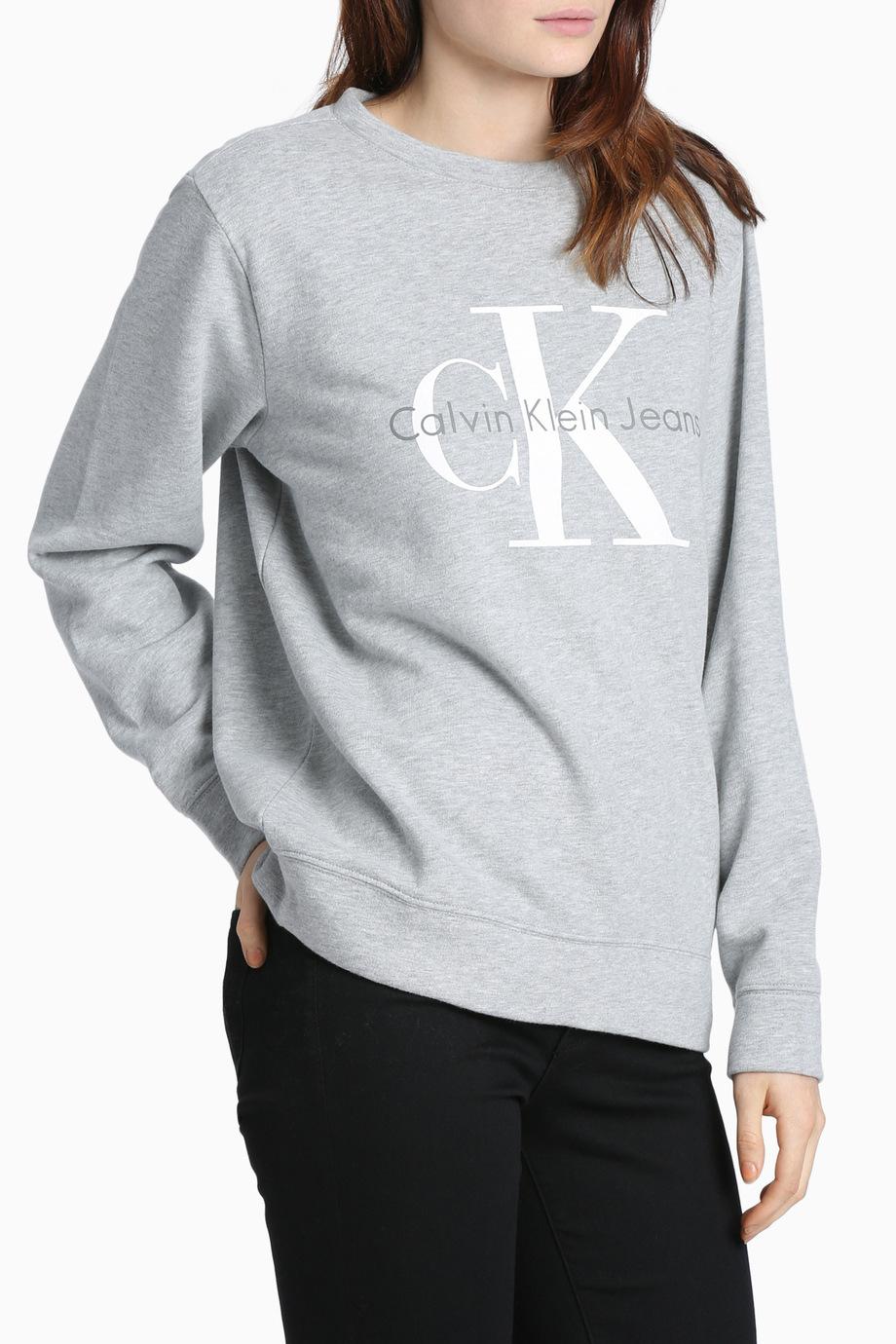 calvin klein jeans vintage logo sweatshirt myer online. Black Bedroom Furniture Sets. Home Design Ideas