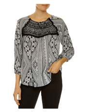 JAG - Long Sleeve Geo Aztec Top