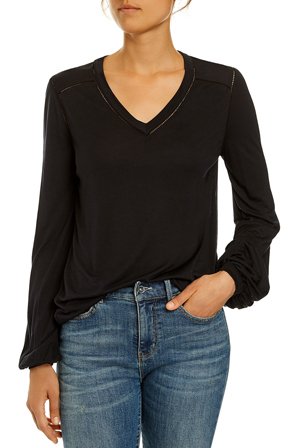 JAG - Long Sleeve Lace Trim Tee