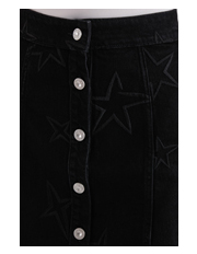 Etre Cecile - Stars Embroidery Button Through Aline