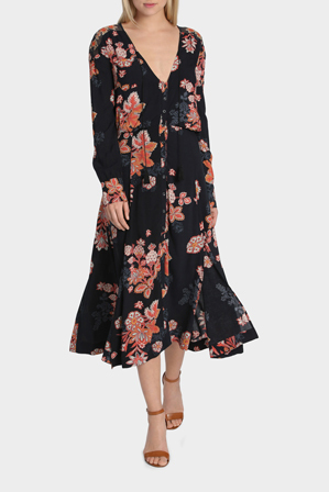 Free People - Printed Midi Dress