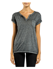 Superdry - Burnout Notch Neck Pocket T-Shirt