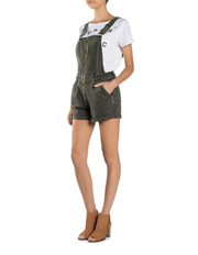 Superdry - Zip Through Dungaree Short