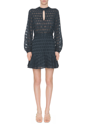 Finders - Ascot Long Sleeve Dress