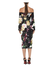 Mossman - She Walks In Roses Off The Shoulder Dress