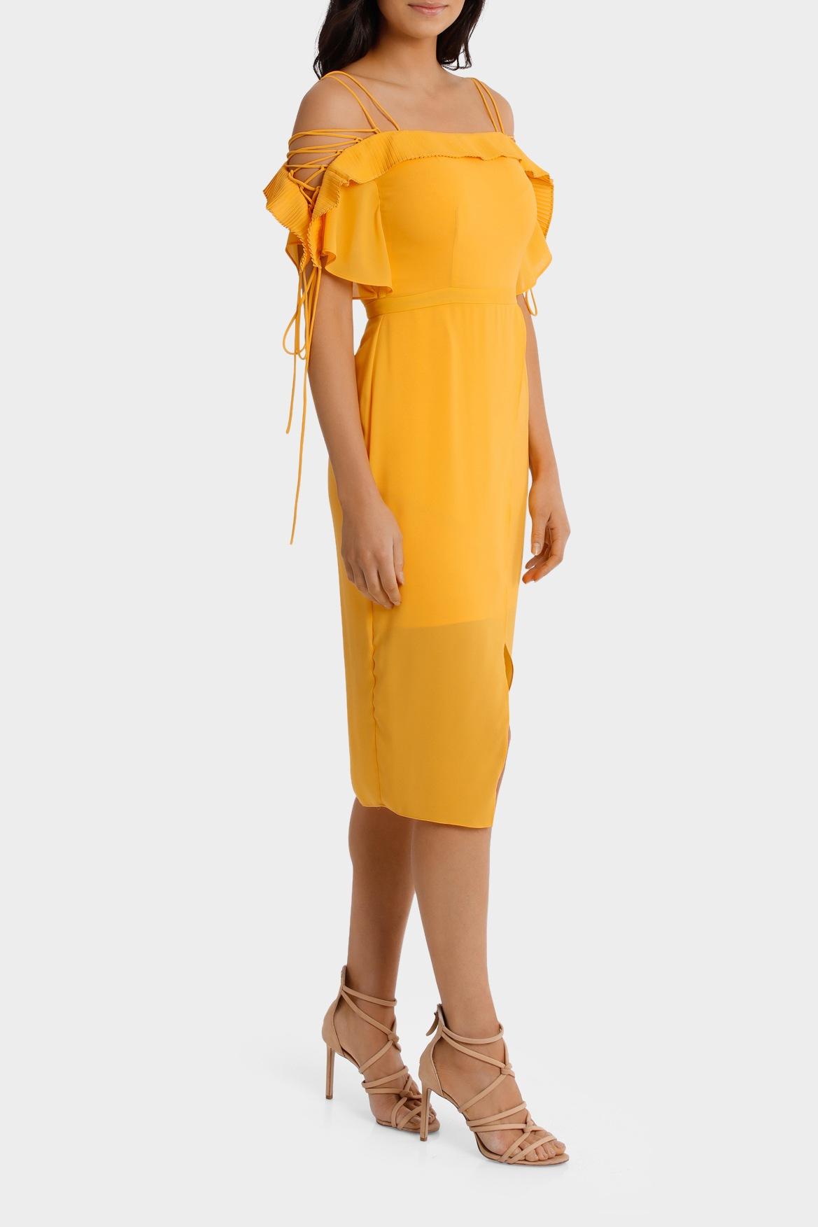 Wayne cooper yellow dress myer