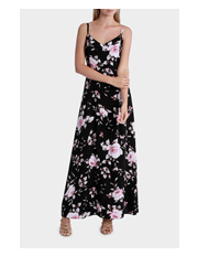 Stella - Midnight Floral Dress