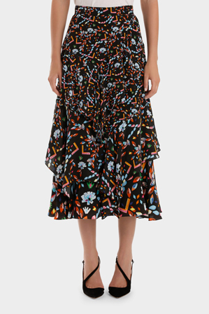 Peter Pilotto - Silk Midi Skirt