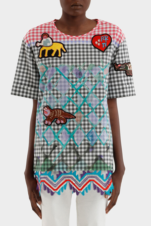 Peter Pilotto - Cotton Gingham Emblem Tunic