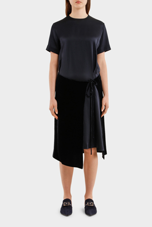 Cedric Charlier - Short Sleeve Double Layer Skirt Dress