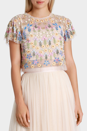 Needle & Thread - Flowerbed Embroidery Top