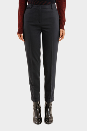 Jil Sander Navy - Fine Stretch Wool Melange Straight Cuffed Pant
