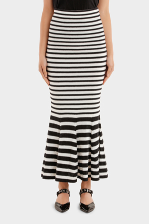 MCQ Alexander McQueen - Twisted Stripe Skirt