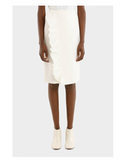 MSGM - Skirt With Ruffles Technical Cady