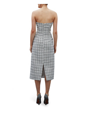By Johnny - Tweed Structured Strapless Dress