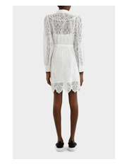 MCQ Alexander McQueen - Lace Gthd Yoke Dress