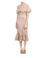 We Are Kindred - Blushing Lotus Off Shoulder Dress