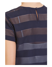 Nautica - Short Sleeve Sheer Stripe Top
