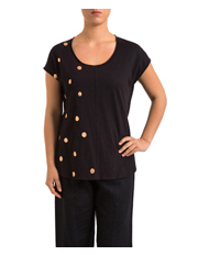 PINGPONG - Spliced Spot Print Top