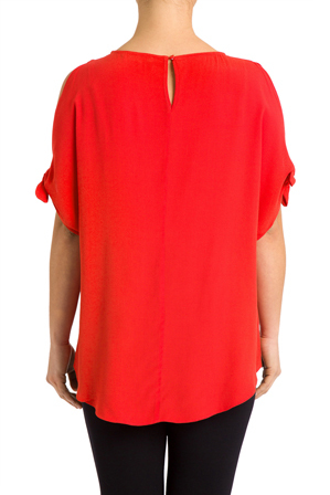 PINGPONG - Elbow Tie Sleeve Top