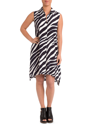 PINGPONG - Button Thru Swing Dress