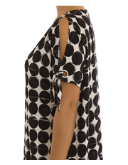PINGPONG - Cut Out Shoulder Print Dress