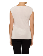 Calvin Klein White - Sleeveless Top With Buttons