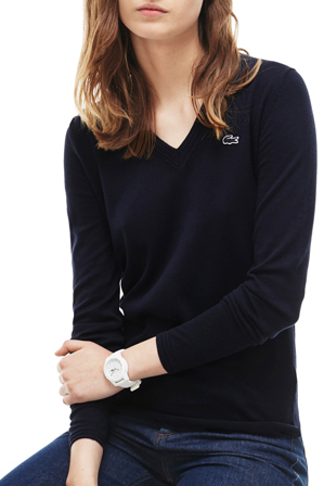 Lacoste - Basic Cotton V-Neck Sweater