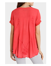 Jump - Short Sleeve Broderie Detail Top